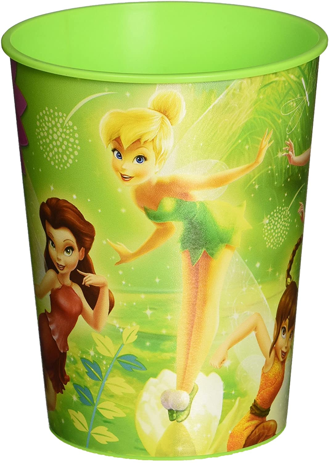 Amscan Tinker Bell Best Friends Fairies Plastic Cups, 16-Ounce, Multicolor