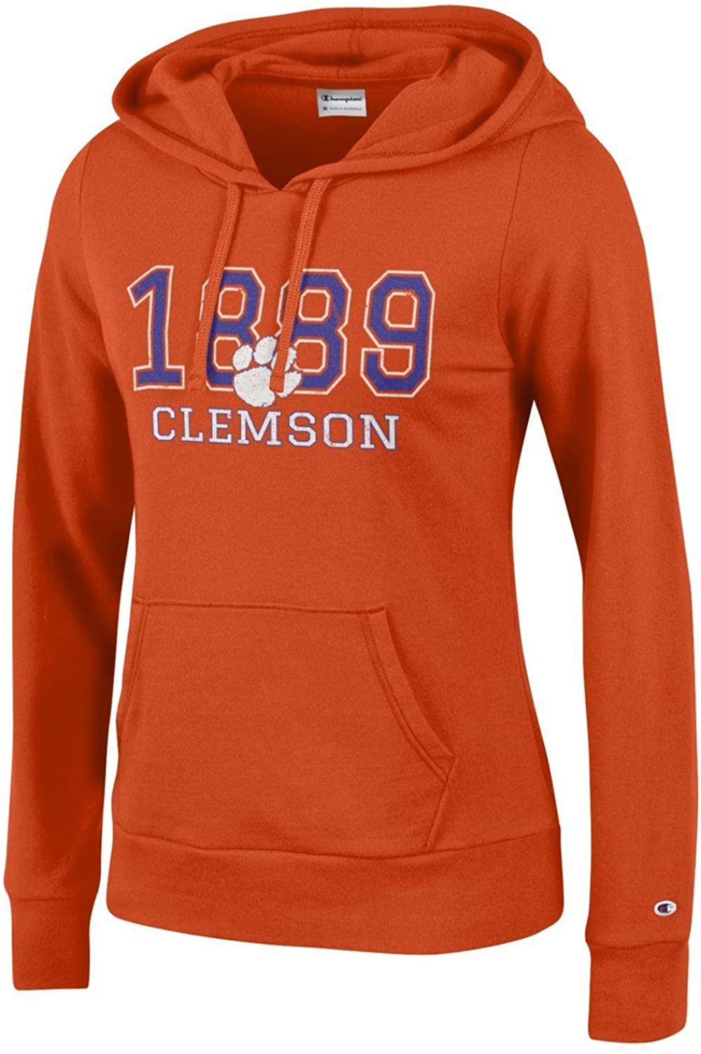 Champion NCAA womens Comfy Fitted University Fleece Hoodie