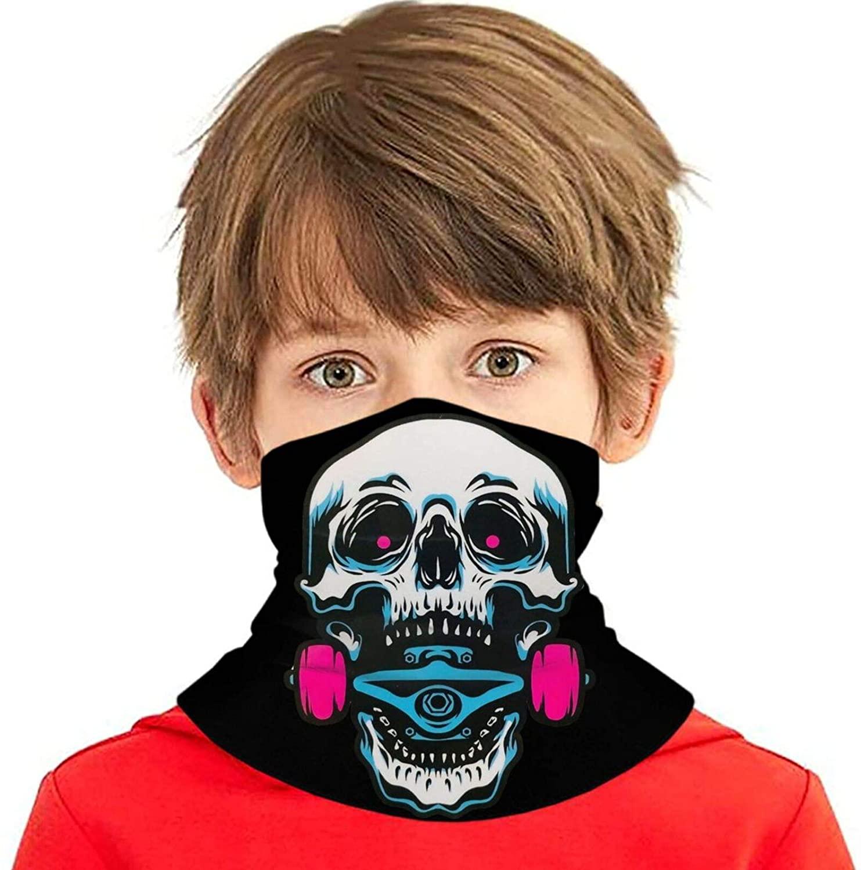 Rad Alien Face Mask Bandanas,Neck Gaiter,Headwear,Magic Scarf,Headband for Dust Sun Wind,Reusable Bandana Face Cover,Anime Face Mask Balaclava Protection from Dust Black