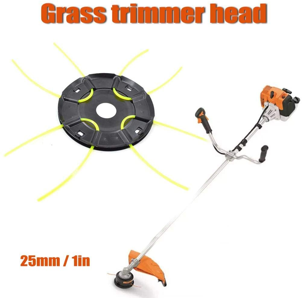 Outdoor Trimmer Head,Grass Cutter Trimmer Head,Lawn Mower Grass Weed Garden Eater Brush Cutter Tool,Universal Fit Most Strimmers and Brush Cutters Mowing Head Tool(Only Trimmer Head)