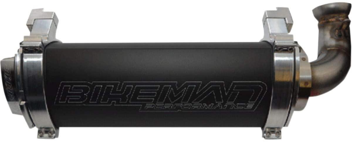 Bikeman Performance Big Mo Slip-On Exhaust (Black/Ceramic) for 14 Polaris RANRZR1000XE