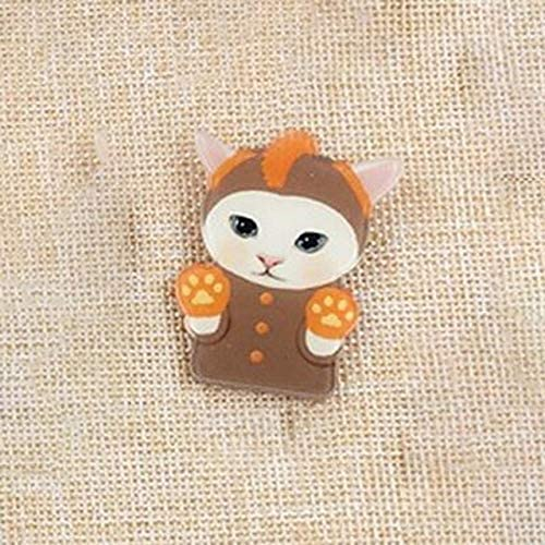 BoKa-store 1pcs Super Cute Cat Shape Badges For Girls Kids Clothes&Bags&Shoes Decoration Pin On Backpack 3D Acrylic Badges Icon Pin Brooch