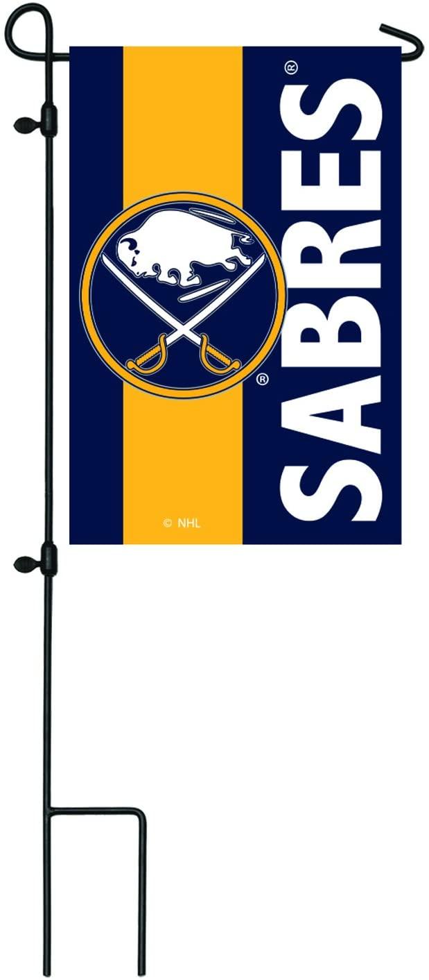 Team Sports America Buffalo Sabres Outdoor Safe Double-Sided Embroidered Logo Applique Garden Flag, 12.5 x 18 inches