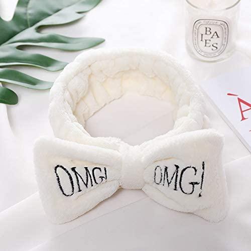 New Letter OMG Coral Fleece Soft Bow Headbands for Women Girls Cute Hair Holder Hairbands Hair Bands Headwear Hair Accessories
