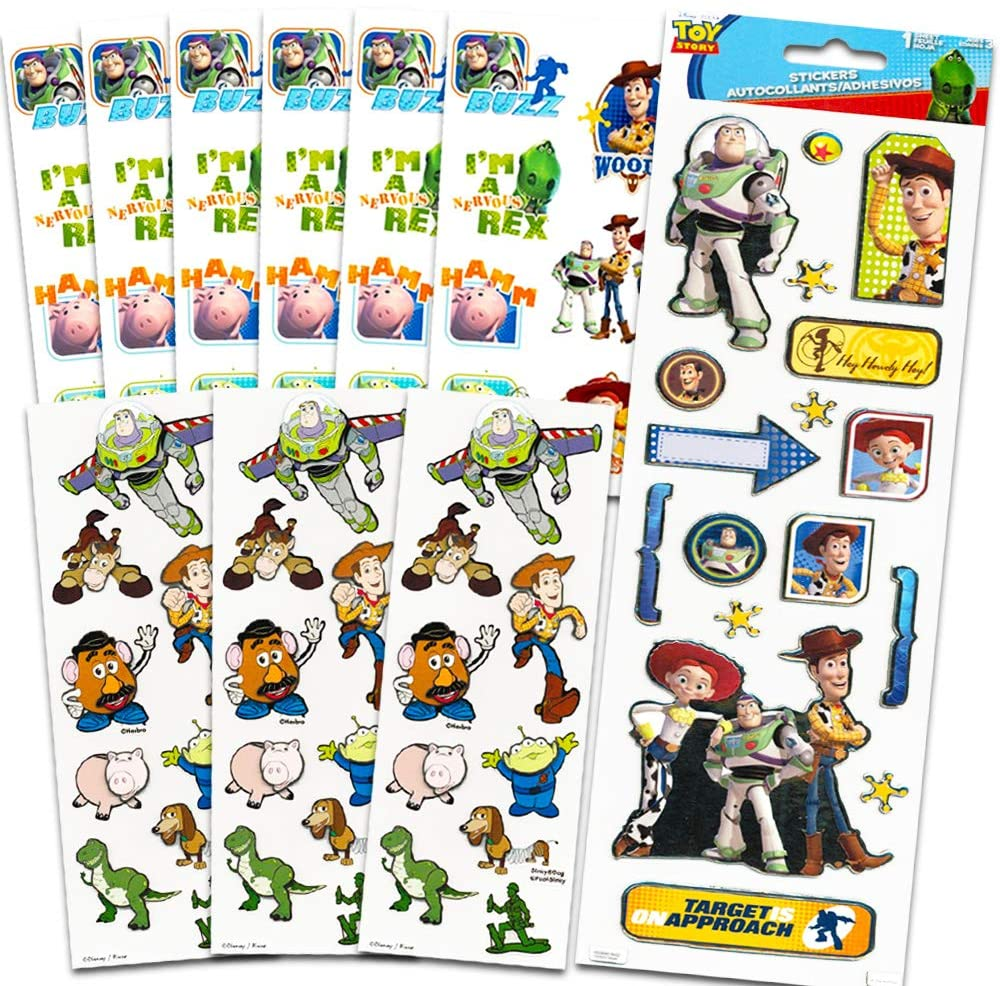 Toy Story Stickers Party Favors ~ 10 Deluxe Sticker Sheets (Over 75 Dimensional Toy Story Stickers)