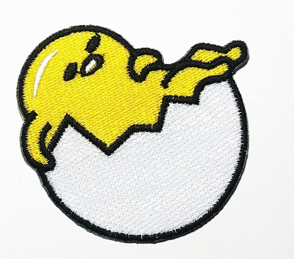 Fried Egg Sleep Foods Patch Embroidered Sew Iron On Patches Badge Bags Hat Jeans Shoes T-Shirt Applique