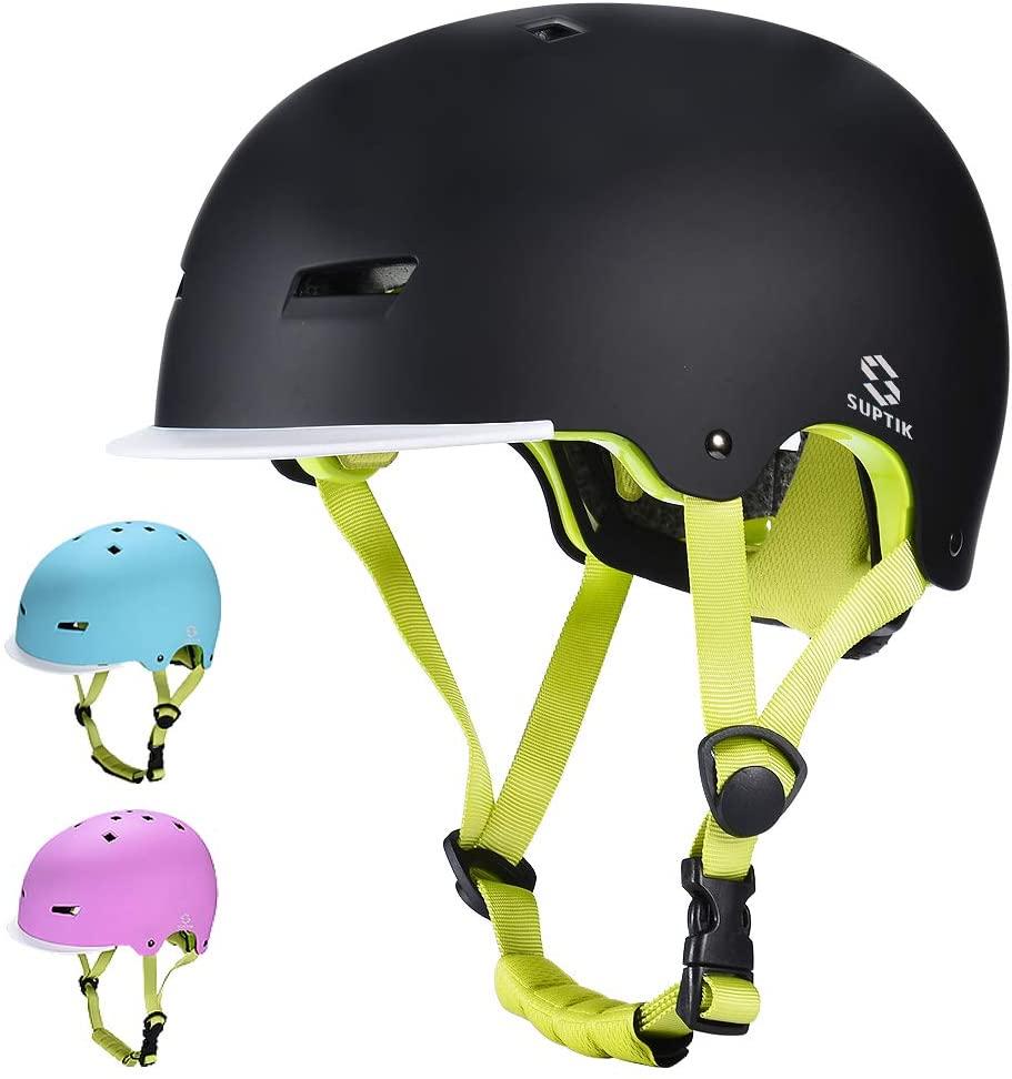 SUPTIK Kids Bike Helmet, Toddler Skateboard Helmet for Boy Girl Ages 3-8 Years Old Cycling Helmet for Scooter Bicycle (Upgraded 2nd Version Adjustable and CPSC Certified) Multi-Sport Helmet