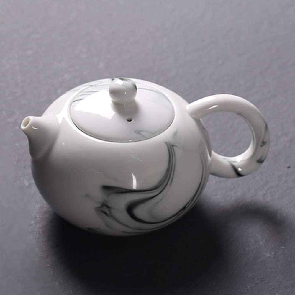 Porcelain Teapot Ceramic Teapot Ink Style Teapot Single Pot Household Ceramic Simple Teapot For Bulk Tea And Tea Bags Tea Pot Ceramic (Color : Shih Tzu pot, Size : 200ml)