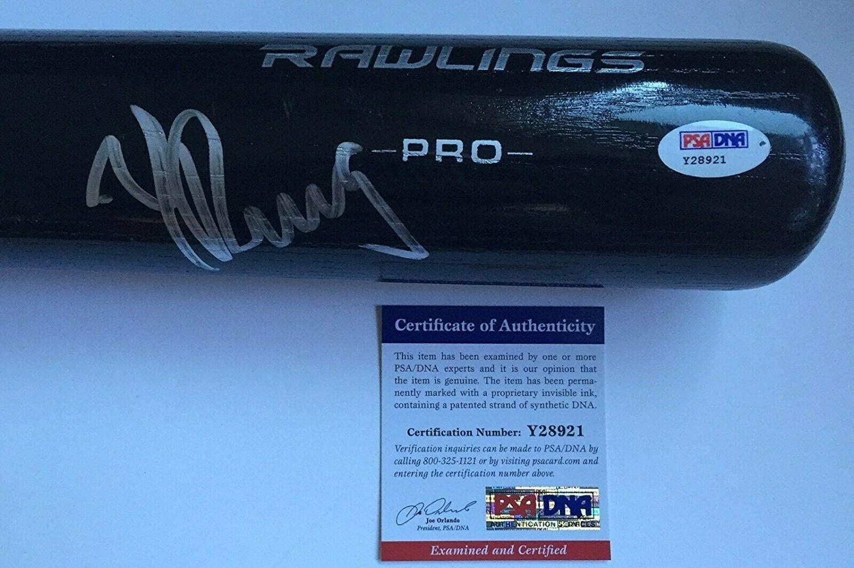 NEW COMER!!! Yasiel Puig CINCINNATI REDS Signed Rawlings Full Size Bat PSA/DNA - Autographed MLB Bats