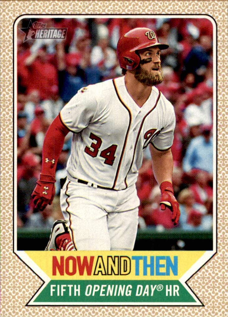 2017 Topps Heritage Now and Then #NT2 Bryce Harper nationals    (Box180MP)
