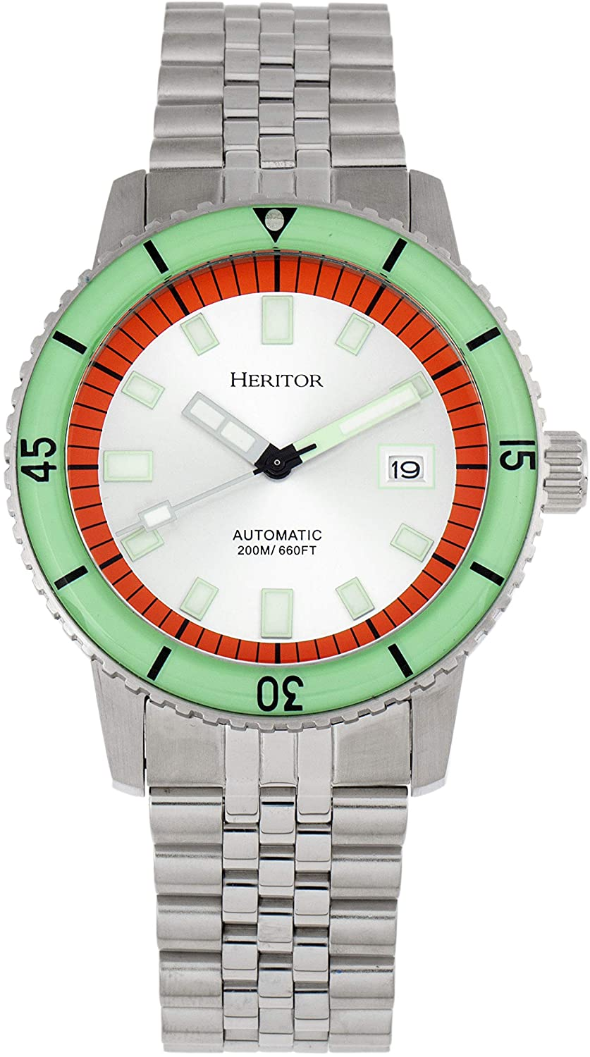 Heritor Automatic Edgard Bracelet Diver's Watch w/Date