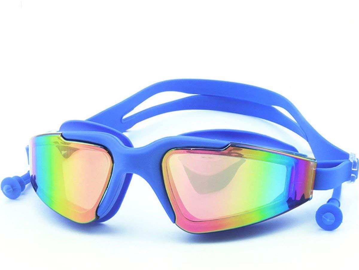 Anti-fog, waterproof, anti-UV swimming goggles, no leakage design swimming goggles, HD electroplating swimming goggles, adult men's swimming goggles, ladies, adolescents, children's swimming goggles A