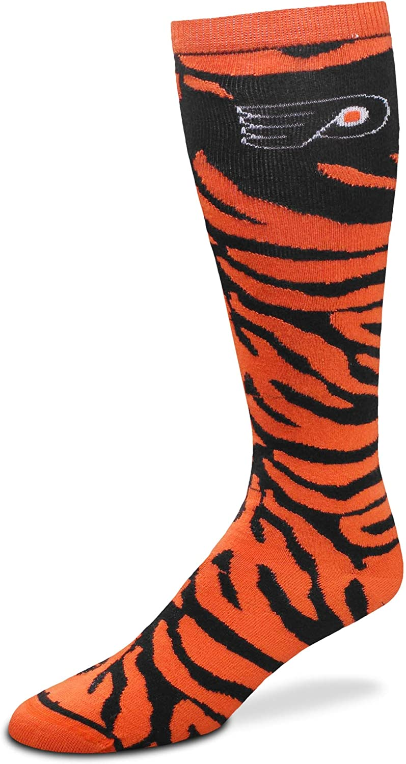 For Bare Feet NHL Ladies Zebra Print Knee High Socks-Size-Medium