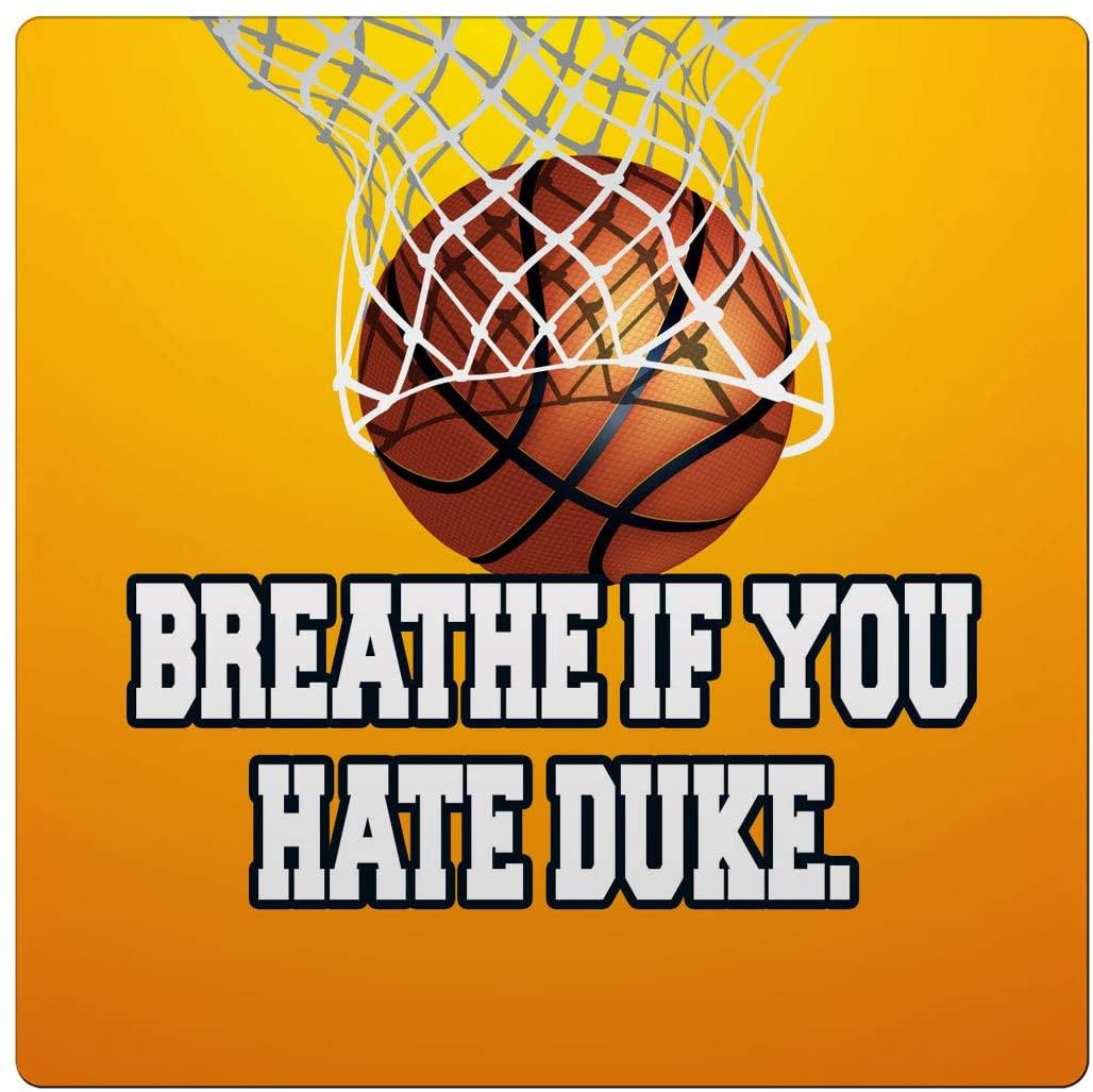 Makoroni - Breathe IF You Hate Duke Basketball Des#1 Ceramic Tile Trivet 6x6 inc