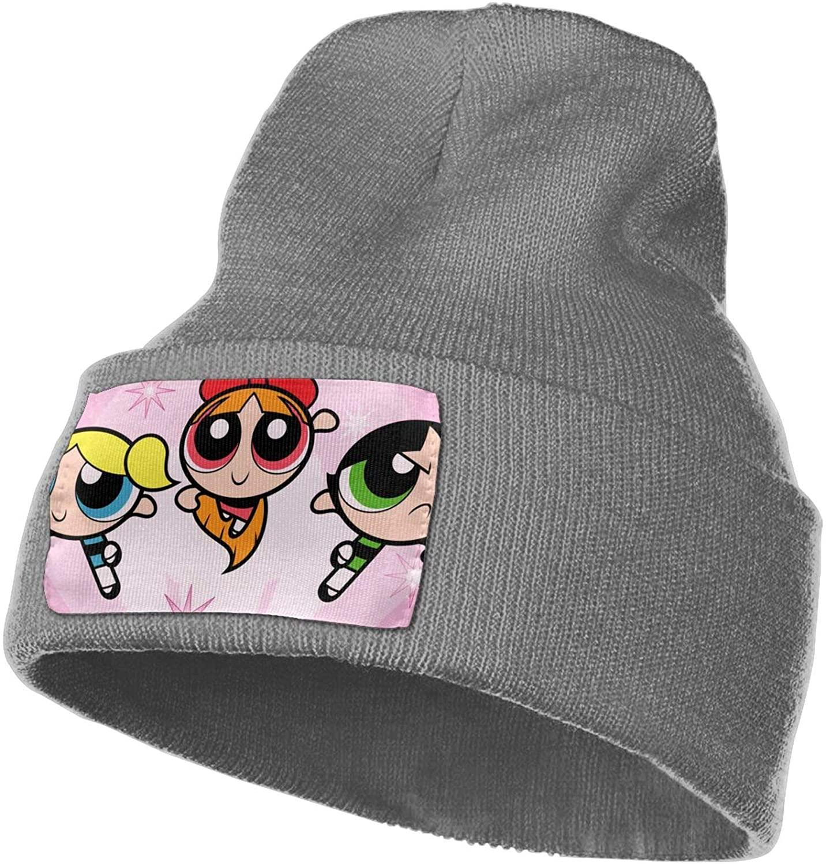 Dawiine The Powerpuff Girls Warm Knitted Hat Beanie Stretch Hat Woolen Cap Stocking Hat