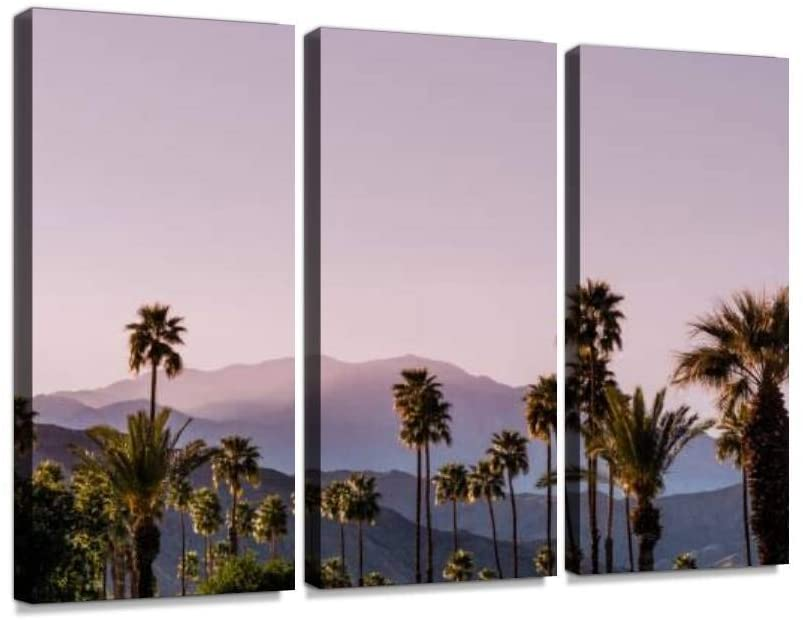 Palm Springs Scenic San Jacinto Mountain Landscape Wall Art Painting Pictures Print On Canvas Stretched & Framed Artworks Modern Hanging Posters Home Decor 3PANEL