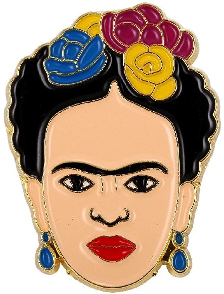 FunnyToday365 Frida Kahlo Pin Soft Enamel Badge Jewelry Art Artist Gift