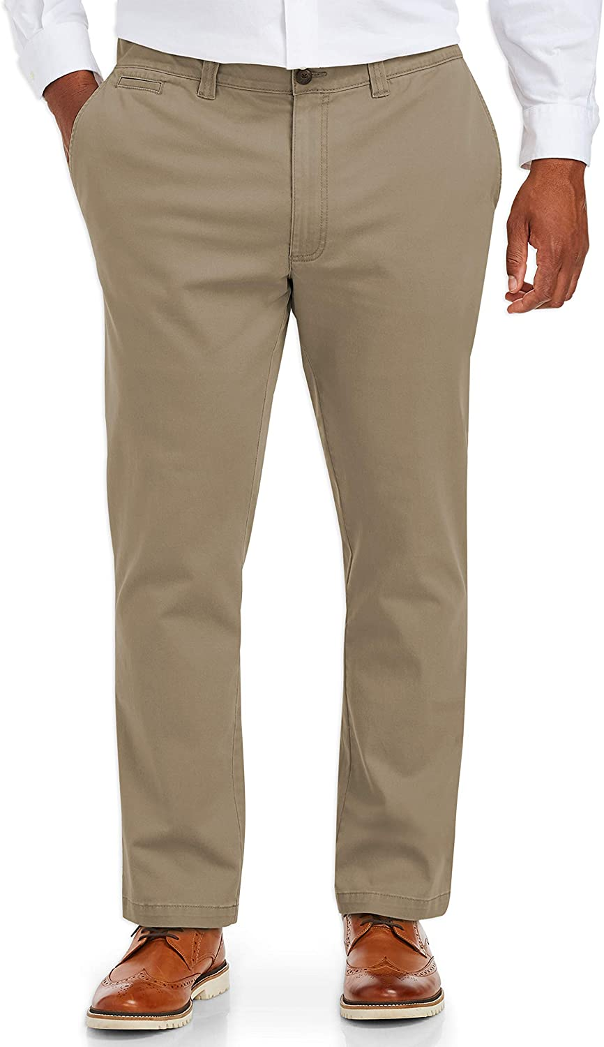 DHgate Essentials Men's Big & Tall Tapered-Fit Broken-In Stretch Chino Pant fit by DXL
