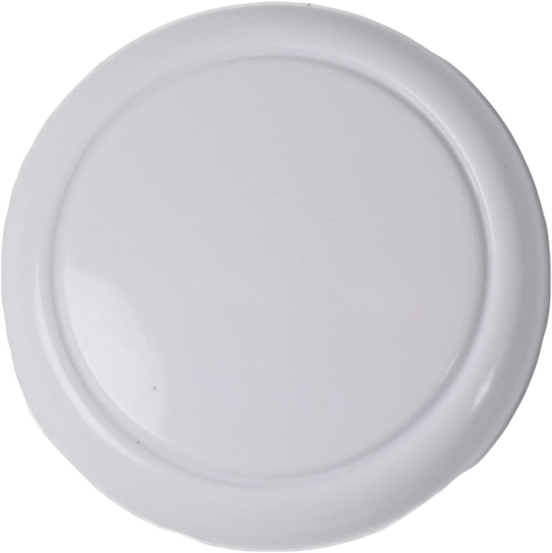 Bulk Hardware BH01847 48mm (1.7/8 inch) Plastic Cupboard Cabinet Door Knob - White, Pack of 2