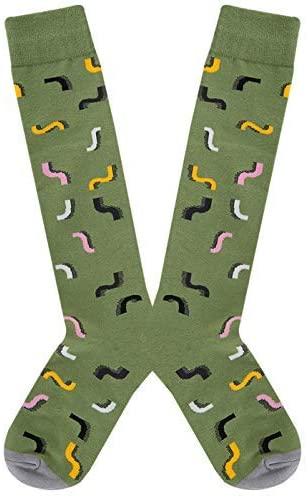 LeweLove Women Knee High Halloween Socks Novelty Cosplay Rainbow Striped Socks