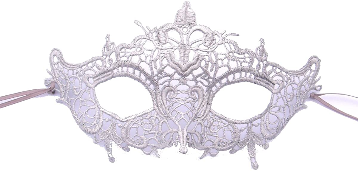 Samantha Peach Venetian Lace Masquerade Mask - Elegant Luxury Marie Antoinette Womens Masked Ball Mask