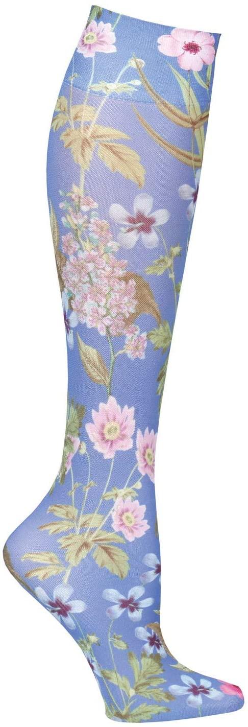 Celeste Stein Womens Moderate Compression Knee High Stockings - Blue Morona