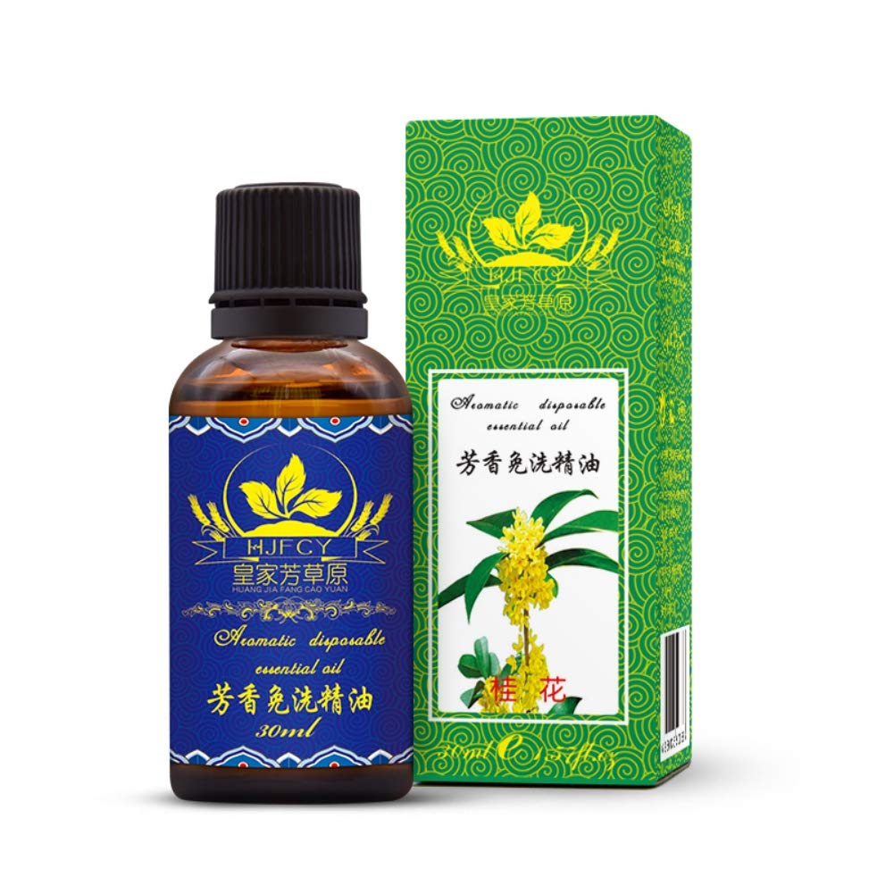 Angmile Natural Osmanthus Essential Oil Deep Moisturizing Nourishing Body Skin Massage Scraping Foot Bath Essential Oil, Help Release Stress Relief Fatigue Improve Sleep