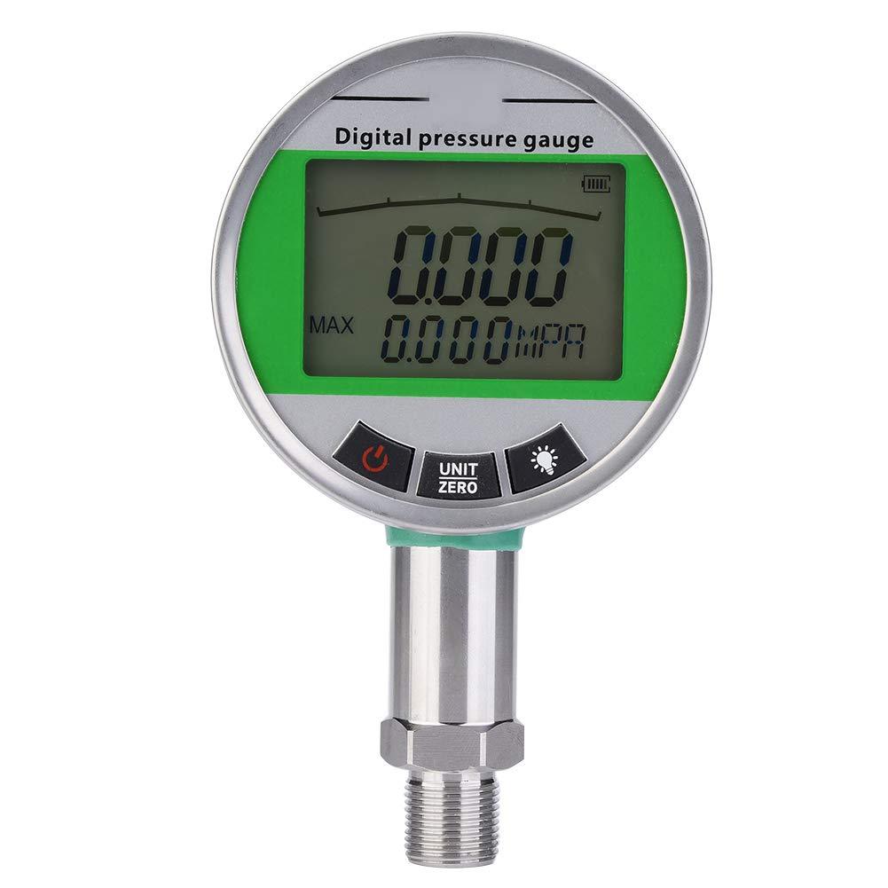 Hydraulic Pressure Gauge, 0-1.6MPA Digital Stainless Steel Hydraulic Pressure Gauge with M201.5 Connector