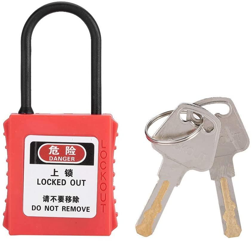 awstroe Durable Steel Padlock, Isolation Padlock, Anti-Skid for Safety Compact Lock Locking Safety Tool
