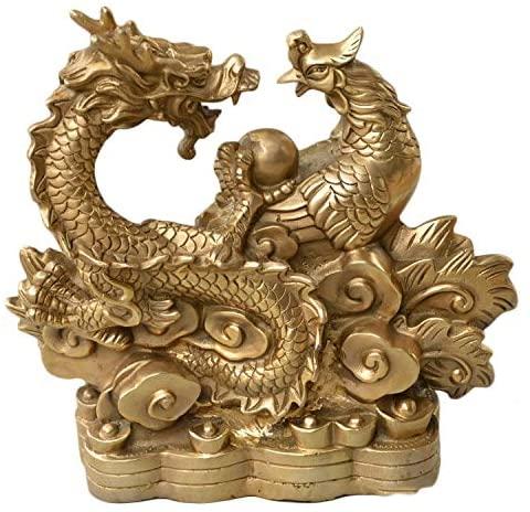 LAOJUNLU Dragon and Phoenix Present Auspicious Wedding Decorations Kaiguang Fengshui Bronze Ware