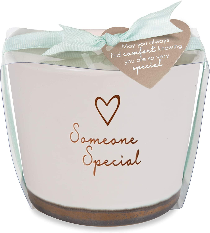 Pavilion Gift Company Soy Wax Candle, 8 oz, Cream