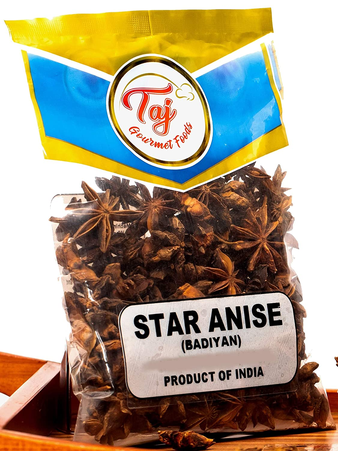 TAJ Premium Indian Star Anise Seeds (Whole Pods), Badian Khatai, (14 Ounce)