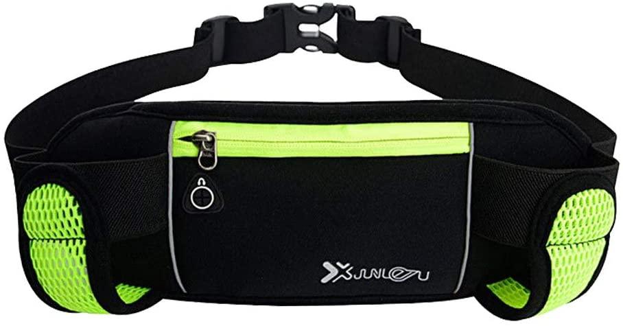 FENICAL Bum Waist Bag Sport Bum Bag Waist Pack Fanny Pack Waterproof Hip Belt Pouch for Running Hiking Cycling (Fluorescent Green)