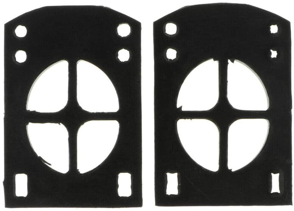 Sailsbu 2pcs 5mm Soft Skateboard Riser Shock Pads Longboard Repair Rebuilding Kit
