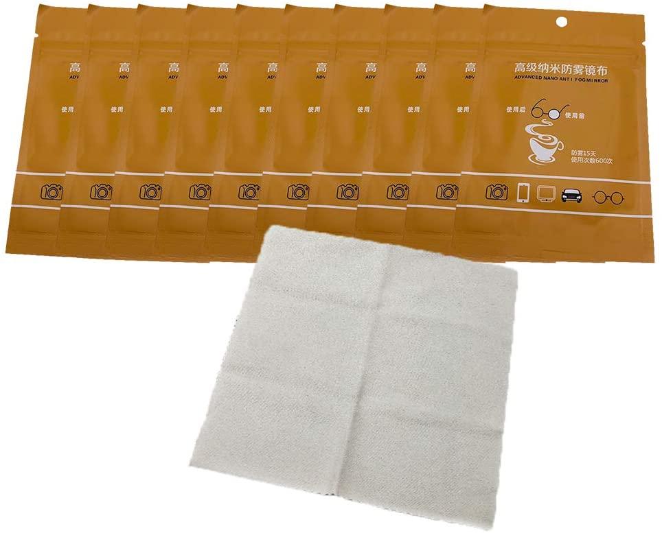 zuoshini Anti Fog Wipes for Glasses, 5Pcs Anti Fog Wipes for Glasses Antifog Eyeglasses Wipes Anti Fogging Wipes Anti Foggy Cloth (5-10 Pack Anti-Fog Wipe)