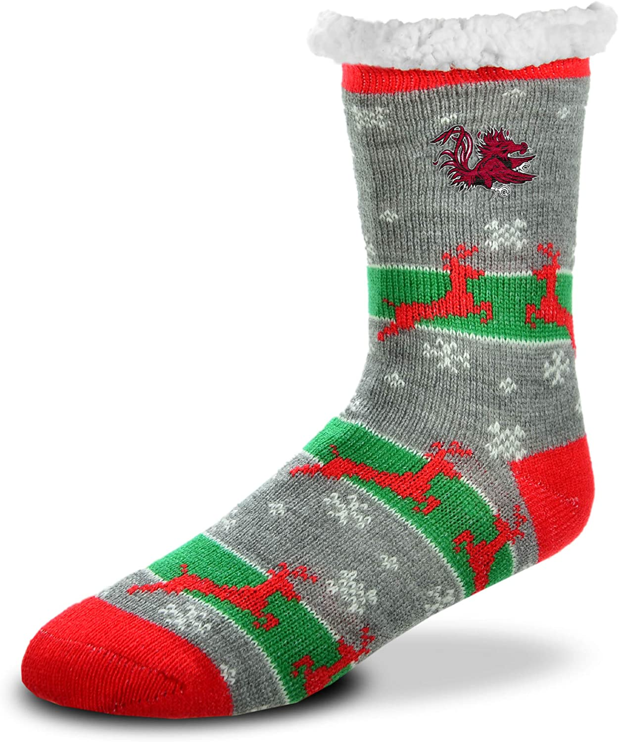For Bare Feet - NCAA Sherpa Slipper Socks - One Size Fits Most