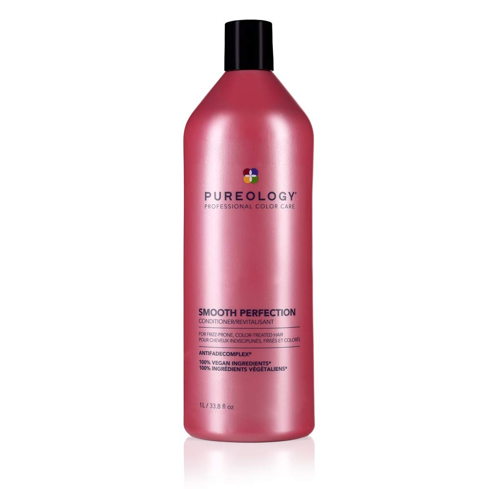 Pureology Smooth Perfection Conditioner | For Frizzy, Color-Treated Hair | Detangles & Controls Frizz | Sulfate-Free | Vegan | Updated Packaging | 33.8 Fl. Oz. |