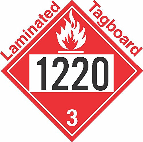 GC Labels-T309c1220, Flammable Class 3 UN1220 Tagboard DOT Placard, Package of 50 Placards