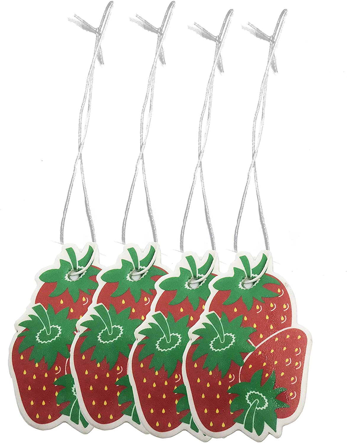Sonoran Souvenirs Strawberry Air Freshener for Car Fresh Strwaberry Scented Automotive Accessory (4pcs/lot)