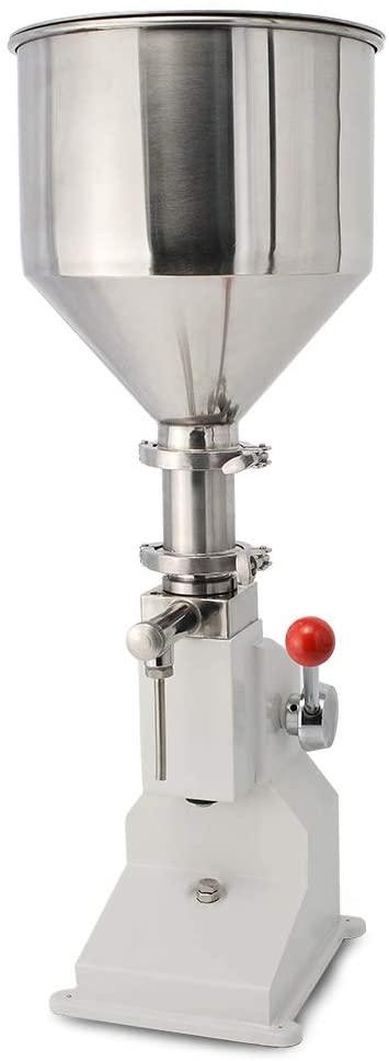 Pneumatic&Manual Paste Liquid Filling Machine Bottle Filler Machine 20-110ml Bottle Filling Machine Stainless Steel (Manual-110ML)