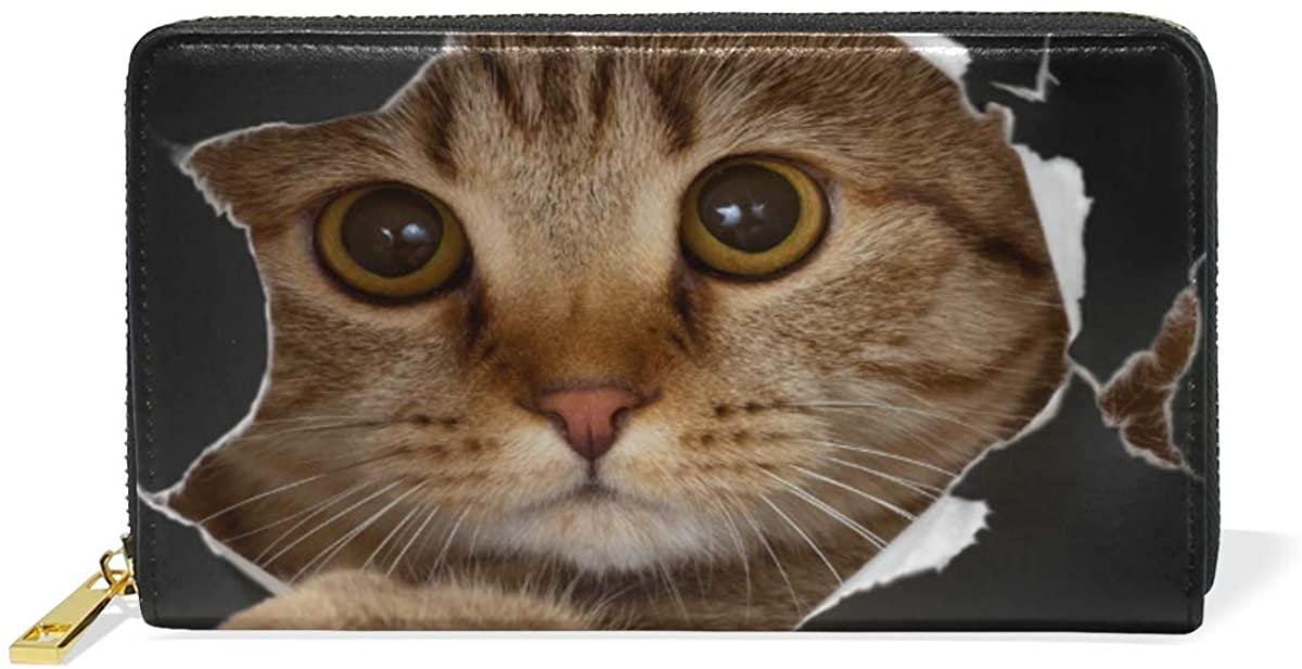 Women Wallet Lovely Cats Lady Clutch Long Purse pouch with Zipper
