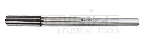 Accusize Industrial Tools 18.0 mm H.S.S. M2 Straight Shank Straight Flute Chucking Reamers, Right Hand, 14.24 mm Shank Dia, 8 Flute, 9Oal, 0400-5180