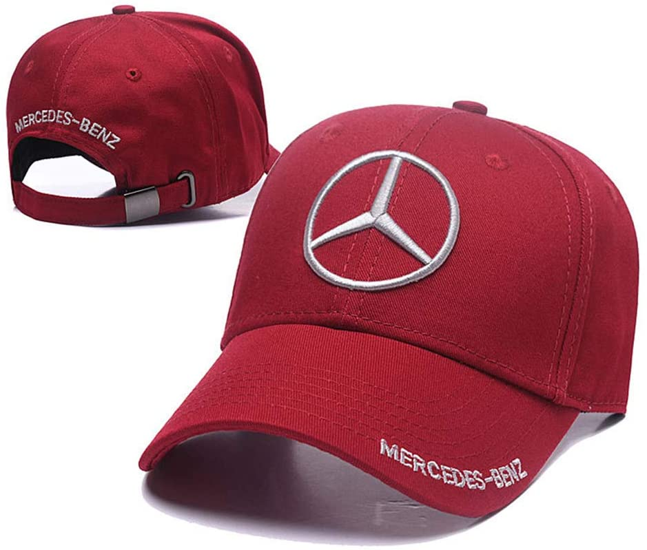 Yoursport Baseball Cap,Unisex Adjustable Hat Travel Cap for Man,Women - Fit Mercedes Benz Accessories(Fit Red)