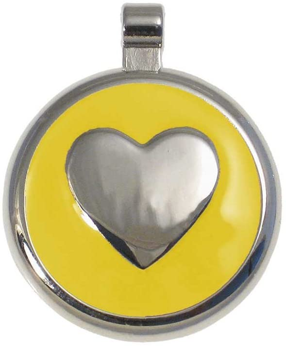 LuckyPet Heart Jewelry Pet ID Tag for Cats and Dogs, Personalized Engraving on The Back Side