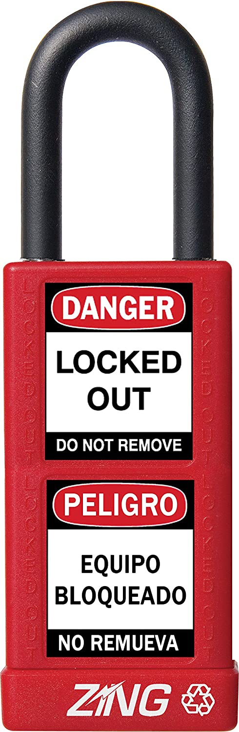 ZING 7070 RecycLock Safety Padlock, Keyed Different, 1-1/2