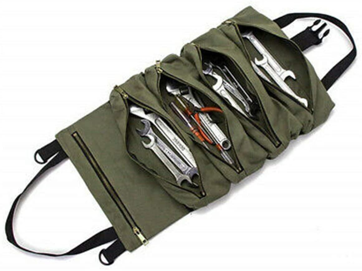 TIFALEX Car Super Tool Zipper Bag Multi-Purpose Canvas Roll Up Bag Hang Organizer Bucket
