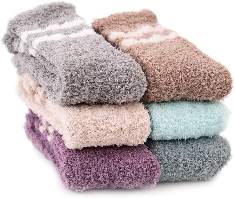 Fuzzy Socks for Women, Winter Warm Soft Cozy Fluffy Socks Christmas Stockings
