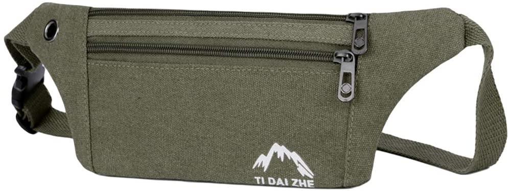 FENICAL Waist Pack Bag Sling Pocket Fanny Pack Waterproof Hip Bum Bag with Adjustable Strap for Outdoors Workout