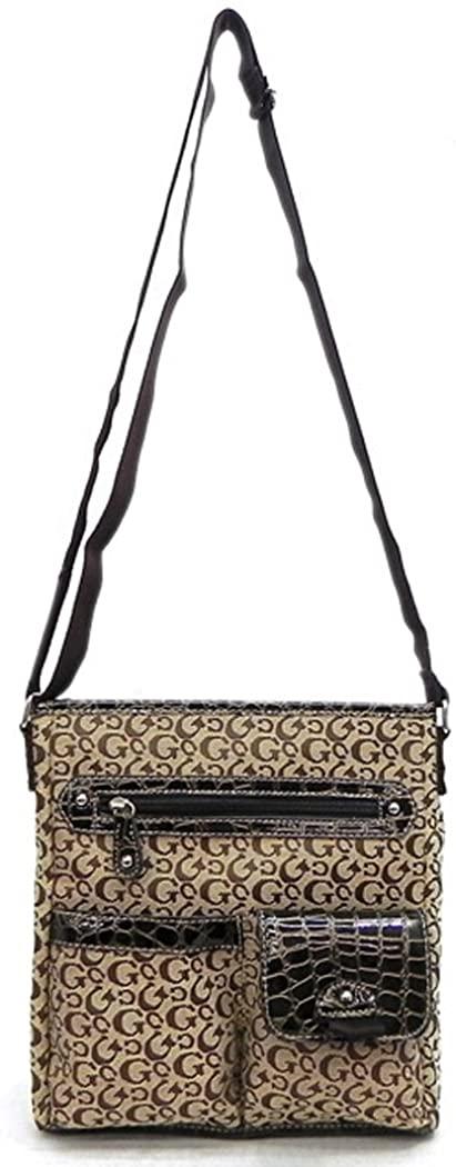 Canvas Cross-body pockets Messenger L Bag G signature Designer Brown