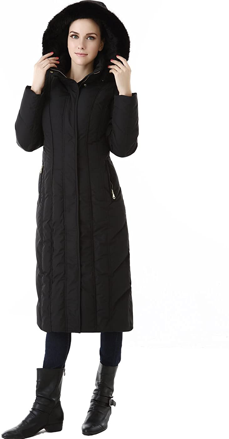 BGSD Womens Tabby Waterproof Hooded Maxi Down Coat (Regular & Plus)